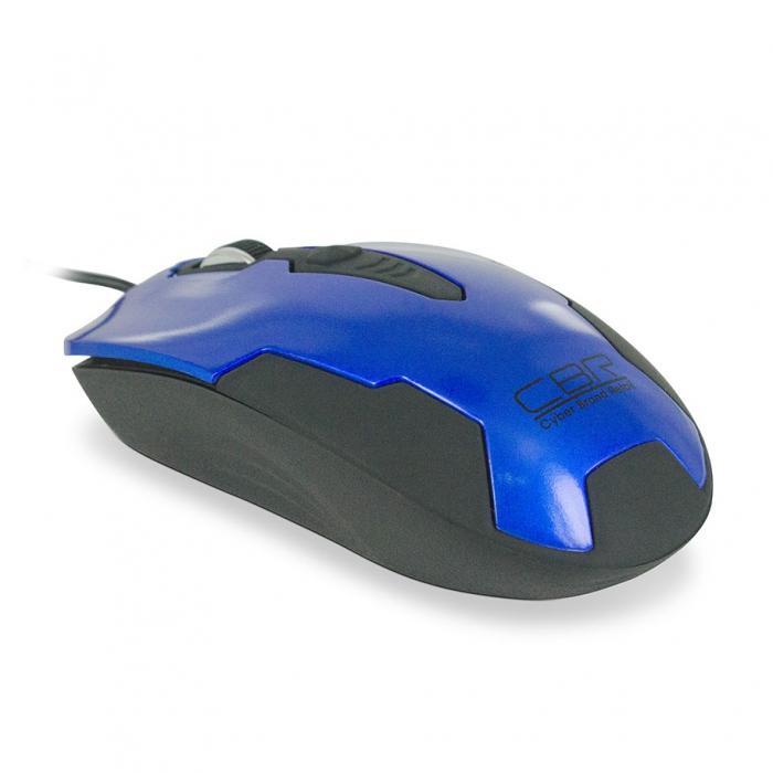 CBR CM 305, Blue Black мышьCM 305 Blue-BlackПроводная мышь CBR CM 305 подходит для работы с ноутбуком и настольным ПК. Устройство выполнено в эргономичном дизайне и имеет симметричную форму, благодаря чему подходит для управления любой рукой. Оптический сенсор с высоким разрешением позволяет использовать устройство в различных графических приложениях и текстовых редакторах. CBR CM 305 не требует установки драйверов, достаточно просто подключить ее к USB-порту компьютера.