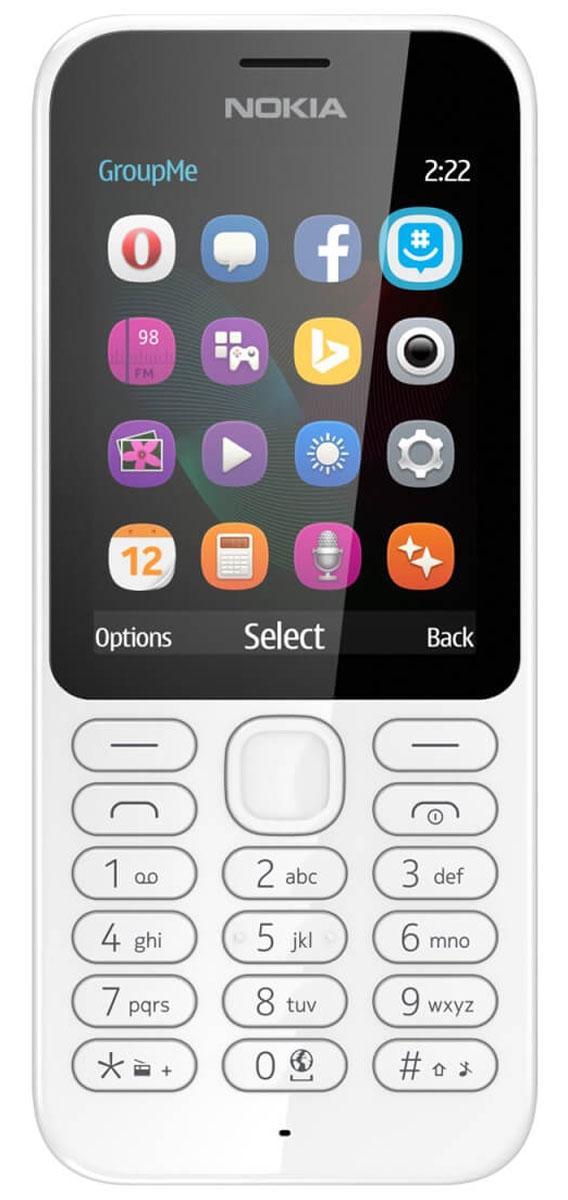 Nokia 222 DS, White