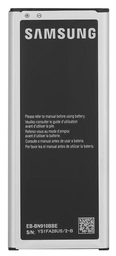 Samsung EB-BN910BBE стандартный аккумулятор для Note 4EB-BN910BBEGRUSamsung EB-BN910BBE - стандартный Li-Ion аккумулятор емкостью 3220 мАч для смартфона Galaxy Note 4.