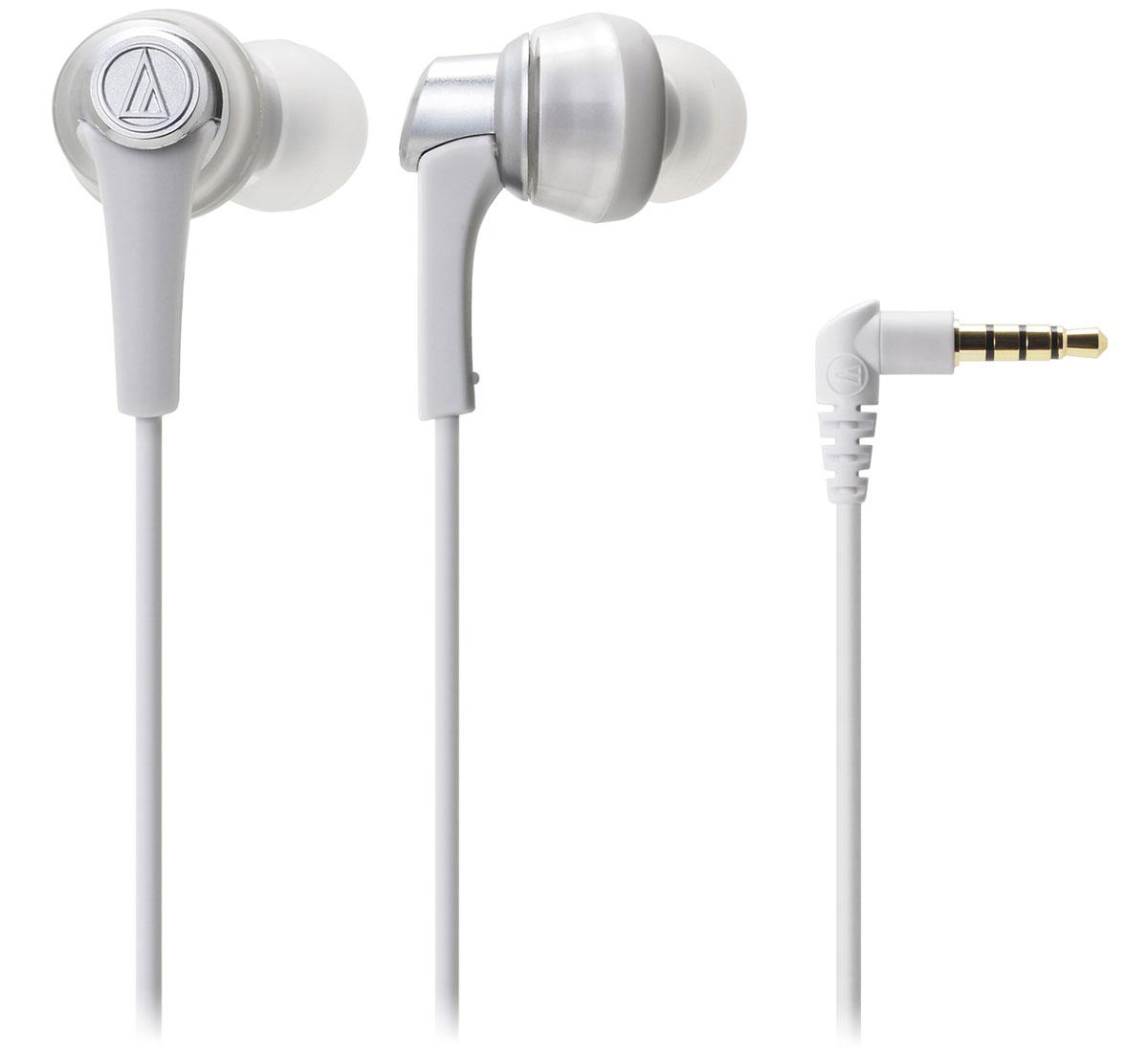 Audio-Technica ATH-CKR5, White наушники4961310607005Audio-Technica ATH-CKR5 - вставные наушники премиум-класса с эргономикой высокого уровня и превосходным звучанием. Новейшие 13-мм драйверы качают мощные басы потрясающей глубины и чёткости. Звучание дополнительно оптимизируют специальные латунные стабилизаторы, поглощающие нежелательные вибрации. Эта технология позволяет добиться кристально чистой передачи на средних и высоких частотах. Четыре пары амбушюр разного размера дают возможность выбрать наиболее подходящие, что благоприятно скажется на звуке. Особенности: Вставные наушники премиум-класса Специальный корпус с превосходным креплением 13-мм драйверы, разработанные в 2015 году Глубокий детализированный звук Латунные стабилизаторы вибраций