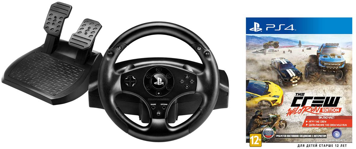 Thrustmaster T80 Racing Wheel руль + игра The Crew. Wild Run Edition (PS4) 4160598