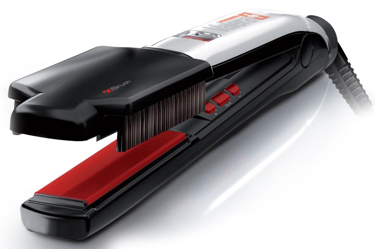 Valera 100.01/IS Swiss`X – Brush&Shine, Black профессиональный выпрямитель для волос100.01/ISПрофессиональный выпрямитель волос (утюжок для волос) Valera 100.01/IS Swiss`X – Brush&Shine с керамическим и турмалиновым покрытием и цифровым управлением. Турмалиновые керамические пластины обеспечивают равномерное выпрямление волос, делая их гладкими и предотвращая спутывание волос, придают волосам здоровый блеск. Турмалин — естественный источник отрицательных ионов для целебного и антистатического воздействия. Floating Plates System — система подпружиненных пластин для обеспечения идеального соприкосновения с волосами.