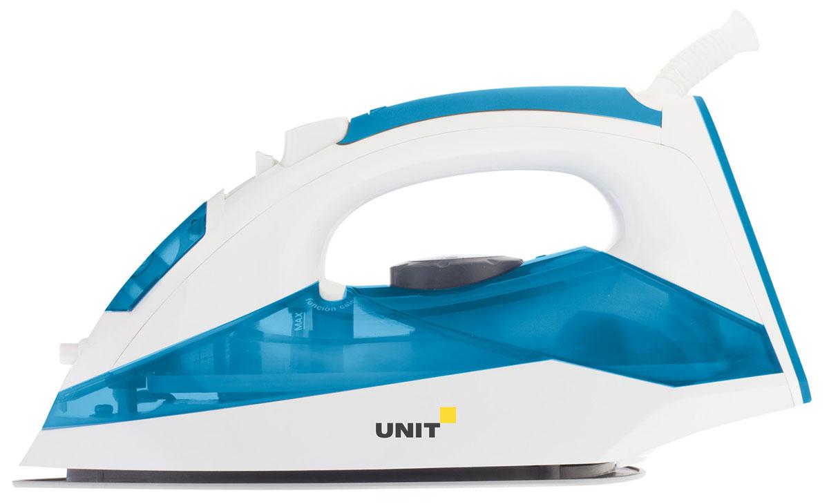 Unit USI-281, Blue утюгUSI-281 BlueUnit USI-281 - стильный и недорогой утюг из качественного пластика. Подошва изготовлена из керамики. Выставить нужную температуру вы сможете путем плавного вращения специального диска. Также в наличии имеется целый ряд полезных функций вроде распыления, вертикального отпаривания и самоочистки. Также утюг оснащен системой анти-капля, предотвращающей вытекание воды из подошвы утюга при низких температурах нагрева. Шнур может вращаться на 360 градусов, поэтому пользоваться прибором будет удобно в любом положении.