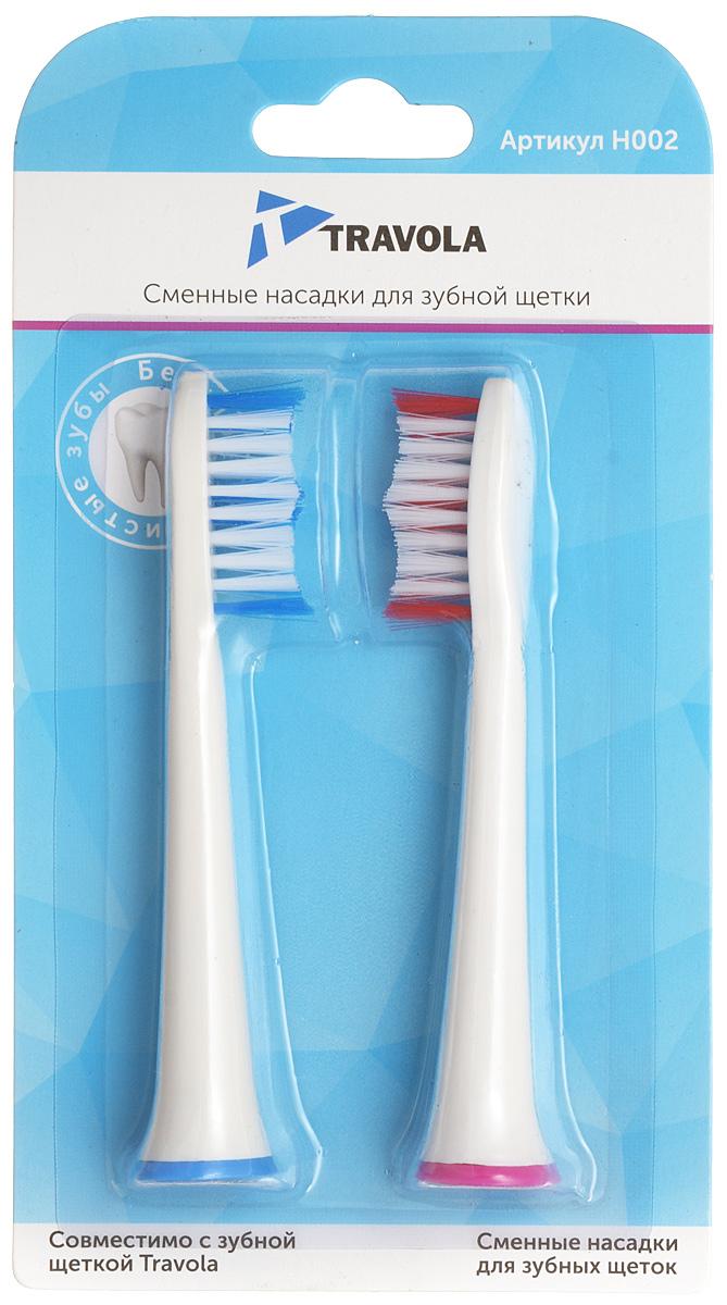 Travola H002 cменные насадки для электрической зубной щетки, 2 шт.