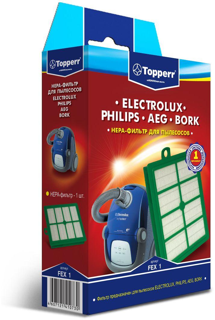 Topperr FEX 1 HEPA-фильтр для пылесосов Electrolux, Philips, AEG, Bork1104HEPA-фильтр Topperr FEX 1 для пылесосов ELECTROLUX, PHILIPS, AEG, BORK. Обладает высочайшей степенью фильтрации, задерживает 99,5% пыли. Благодаря специальным свойствам фильтрующего материала, фильтр улавливает мельчайшие частицы, позволяя очищать воздух от пыльцы, микроорганизмов, бактерий и пылевых клещей. Совместимые модели: ELECTROLUX: UltraSilencer Usdeluxe, Usallfloor, Usorigindb, Usenergy, Special Edition Z 33..; Maximus ZXM 70..; UltraPerformer ZUP 38..; CycloneXL ZCX 64..; Ultra Active ZUA 38.., ZUAG 38..; Classic Silence ZCS 21..; JetMaxx ZJM 68..; Essensio ZEO 54..; Super Cyclone ZSC 69..; UltraOne Z 88.., Z 90; Accelerator ZAC 68..; Clario Z 19.., Z 20.., Z 75..; Excellio Z 5...; Oxygen Z 73.., Z 5…; Smartvac Z 5...; UltraSilencer ZUSG 39..; ZUS 39.., ZUS 33.., Z 33..; ErgoSpace ZE 22.., ZE 3.., Twintech XXLTT..; VivaControl ZV 10..; VivaQuickStop ZVQ 21..; Oxi3 System ZO 63..; Bolido Z 15.., Z 45 ; Airmax ZAM 61.., ZAM 62..; PHILIPS:...
