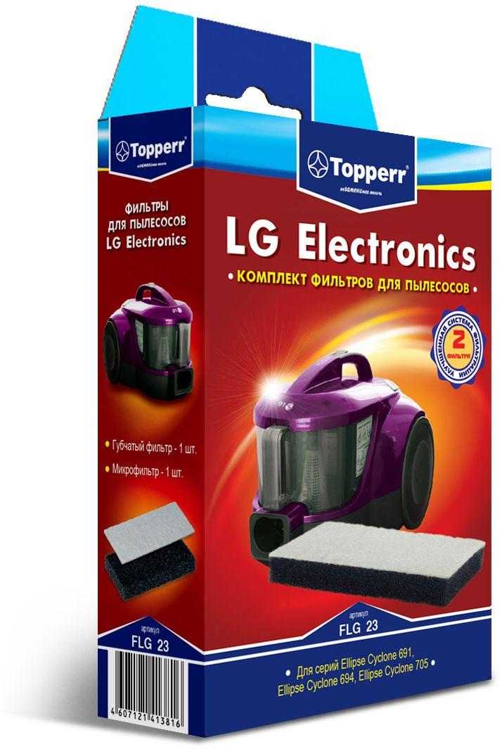 Topperr FLG 23 фильтр для пылесосов LG Electronics1142Комплект фильтров Topperr FLG 23 предназначен для пылесосов LG Electronics. В комплекте 2 фильтра:. Губчатый фильтр - защищает двигатель пылесоса от попадания крупных частиц пыли. Микрофильтр - улавливает мельчайшие частицы. Совместимые модели: Ellipse Cyclone 691: VK 69161, VK 69162, VK69163, VK 69154, VK 69165 Ellipse Cyclone 694: VK 69461, VK 69462, VK 69463, VK 69464, VK 69465 Ellipse Cyclone 705: VK 70501, VK 70502, VK 70503, VK 70505, VK 70506, VK 70507 Ellipse Cyclone: VC 22161, VC 23201, VC 23202