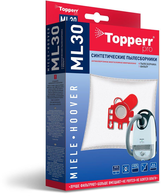 Topperr ML30 фильтр для пылесосов Miele, Hoover, 4 шт 1410