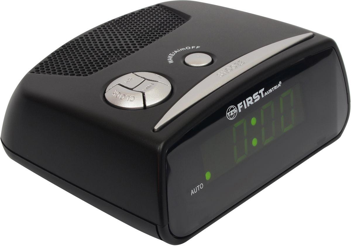 First FA-2410-BA цифровой будильникFA-2410-BAFirst FA-2410-BA - цифровой будильник с LED-дисплеем диагональю 0,6 дюйма. Устройство изготовлено из качественных материалов и позволит вам просыпаться вовремя без риска опоздать куда-либо. Вы также можете активировать отложенный сигнал чтобы поспать еще немного времени. Будильник отключится и прозвенит через 9 минут. Резервное питание: 1 батарейка 9В (в комплект не входит)