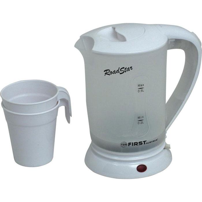 First FA-5425-2, White электрический чайникFA-5425-2 WhiteДорожный электрический чайник First FA-5425-2 имеет объем 0,5 литра. Несмотря на свои компактные размеры, данная модель располагает всеми необходимыми функциями полноразмерных чайников. Скрытый нагревательный элемент позволит за короткое время вскипятить заданный объем воды, а функция автовыключения и защита от перегрева обеспечат безопасное использование в течение всего срока эксплуатации.
