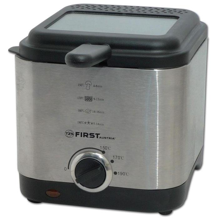 First FA-5058-1, Grey фритюрницаFA-5058-1GreyФритюрница First FA-5058-1объемом 1,5 литра очень удобна и проста в эксплуатации, а благодаря своим компактным размерам не возникнет проблем с её размещением и хранением. С помощью данной модели можно приготовить блюда для всей семьи за небольшой промежуток времени: пончики, рыбные палочки, куриные ножки, креветки, картофель-фри и многое другое. Ненагревающийся корпус изготовлен из нержавеющей стали. Чаша с антипригарным покрытием упрощает уход за прибором. Встроенный металлический фильтр против запахов является наиболее экономичным вариантом, так как не требует замены. Контрольная лампочка-индикатор нагрева поможет легко определить подходящее время для загрузки продуктов. Большое смотровое окошко позволяет следить за степенью готовности блюда.
