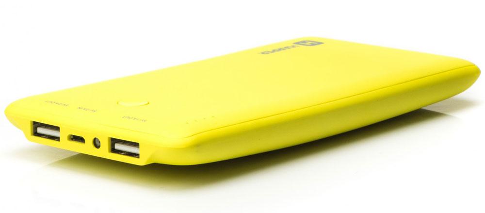 Harper PB-10001, Yellow внешний аккумуляторH00000957Внешний аккумулятор может похвастаться внушительной емкостью - 10000 мАч. Этого достаточно для полной подзарядки пяти смартфонов. Девайс оснащен двумя полноразмерными USB-портами, поэтому вы сможете сэкономить время и подзарядить сразу несколько устройств. Об уровне заряда сообщает специальный LED- индикатор. Кроме того, аккумулятор оснащен встроенным фонариком, что является весьма приятным бонусом.