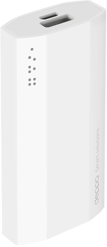 Deppa NRG Power внешний аккумулятор (5200 мАч)33511Основу аккумуляторов Deppa NRG Power составляют высокотехнологичные микросхемы последнего поколения. Встроенный современный контроллер, разработанный специально для данной категории устройств, обеспечивает аккумулятору высокую эффективность и безопасность в использовании. USB порт для зарядки вашего устройства, светодиодный индикатор, отображающий процент остатка заряда аккумулятора, удобная кнопка включения - все для удобного использования и ничего лишнего. Внешние аккумуляторы NRG Power совместимы с любыми цифровыми устройствами. Эффективно и быстро зарядят Ваш смартфон, планшет или другой девайс.