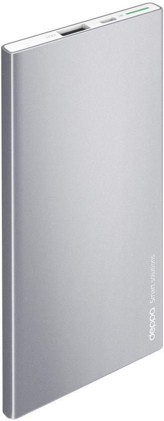 Deppa NRG Alum внешний аккумулятор (5000 мАч)33514Внешний аккумулятор Deppa NRG Alum, его строгий металлический корпус глубокого графитового цвета стильно сочетается с флагманскими смартфонами и планшетами. В комплект с аккумулятором входит стильный силиконовый чехол, который идеально повторяет корпус устройства и защищает его от повреждений. Включение и проверка текущего заряда NRG Alum работает по технологии Shake-to-power - для его активации достаточно встряхнуть корпус. Надежность и безопасность вашего устройства обеспечивают самые передовые технологии защиты аккумулятора. Внешние аккумуляторы NRG Alum совместимы с любыми мобильными и цифровыми устройствами с функцией заряда от USB-порта.