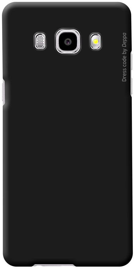 Deppa Air Case чехол для Samsung Galaxy J5 (2016), Black83250Чехол Deppa Air Case для Samsung Galaxy J5 (2016) случай редкого сочетания яркости и чувства меры. Это стильная и элегантная деталь вашего образа, которая всегда обращает на себя внимание среди множества вещей. Благодаря покрытию soft touch чехол невероятно приятен на ощупь, поэтому смартфон не хочется выпускать из рук. Ультратонкий чехол (1 мм) повторяет контуры самого девайса, при этом готов принимать на себя удары - последствия непрерывного ритма городской жизни. Чехлы Deppa Air Case изготавливаются из высококачественного поликарбоната (PC) производства Вауеr, устойчивого к сколам, ударам и царапинам. Прочная поверхность чехла с покрытием soft touch обладает противоскользящим эффектом. Все функциональные отверстия чехла идеально подогнаны по размерам и местоположению, обеспечивая полный доступ к внешним портам, слотам и разъемам гаджета.