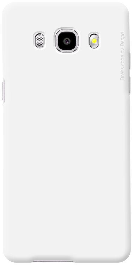 Deppa Air Case чехол для Samsung Galaxy J5 (2016), White83251Чехол Deppa Air Case для Samsung Galaxy J5 (2016) случай редкого сочетания яркости и чувства меры. Это стильная и элегантная деталь вашего образа, которая всегда обращает на себя внимание среди множества вещей. Благодаря покрытию soft touch чехол невероятно приятен на ощупь, поэтому смартфон не хочется выпускать из рук. Ультратонкий чехол (1 мм) повторяет контуры самого девайса, при этом готов принимать на себя удары - последствия непрерывного ритма городской жизни.Чехлы Deppa Air Case изготавливаются из высококачественного поликарбоната (PC) производства Вауеr, устойчивого к сколам, ударам и царапинам. Прочная поверхность чехла с покрытием soft touch обладает противоскользящим эффектом. Все функциональные отверстия чехла идеально подогнаны по размерам и местоположению, обеспечивая полный доступ к внешним портам, слотам и разъемам гаджета.