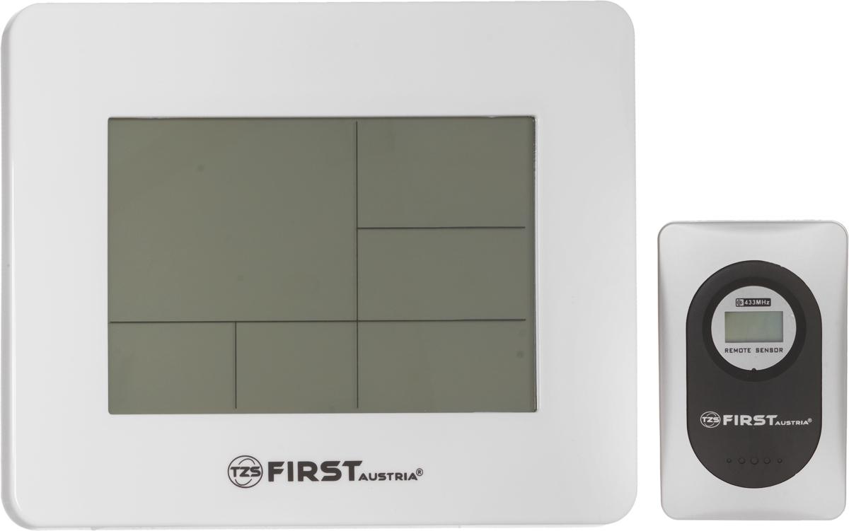 First FA-2461, White погодная станцияFA-2461 WhiteМетеостанция First FA-2461 позволит измерять температуру и влажность как внутри вашего дома, так и на улице. Модель также способна также прогнозировать погоду на ближайшее будущее. Помогают ей в этом цифровые датчики, обеспечивающие максимальную точность данных. Вся рабочая информация выводится на четкий ЖК-дисплей, на котором также отображается дата и время. Из дополнительного функционала стоит выделить наличие будильника подсветки экрана и отображение фаз луны.Рабочая частота: 433 МГц
