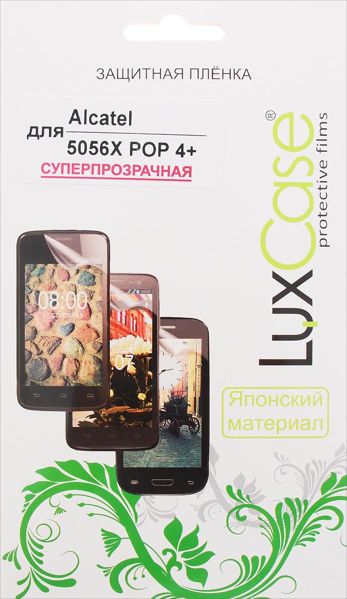 LuxCase защитная пленка для Alcatel 5056X Pop 4+, суперпрозрачная51380Защитная пленка LuxCase для Alcatel OneTouch Pop 4+ (5056X) сохраняет экран смартфона гладким и предотвращает появление на нем царапин и потертостей. Структура пленки позволяет ей плотно удерживаться без помощи клеевых составов и выравнивать поверхность при небольших механических воздействиях. Пленка практически незаметна на экране смартфона и сохраняет все характеристики цветопередачи и чувствительности сенсора.