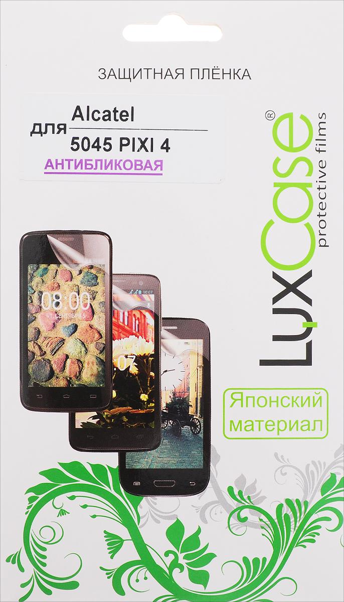 LuxCase защитная пленка для Alcatel 5045 Pixi 4, антибликовая51370Защитная пленка LuxCase для Alcatel OneTouch Pixi 4 (5045) сохраняет экран смартфона гладким и предотвращает появление на нем царапин и потертостей. Структура пленки позволяет ей плотно удерживаться без помощи клеевых составов и выравнивать поверхность при небольших механических воздействиях. Пленка практически незаметна на экране смартфона и сохраняет все характеристики цветопередачи и чувствительности сенсора.