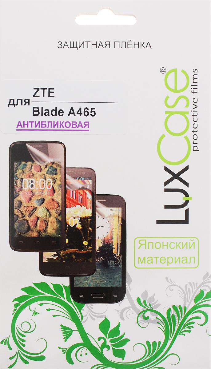 LuxCase защитная пленка для ZTE Blade A465, антибликовая51447Защитная пленка LuxCase для ZTE Blade A465 сохраняет экран смартфона гладким и предотвращает появление на нем царапин и потертостей. Структура пленки позволяет ей плотно удерживаться без помощи клеевых составов и выравнивать поверхность при небольших механических воздействиях. Пленка практически незаметна на экране смартфона и сохраняет все характеристики цветопередачи и чувствительности сенсора.
