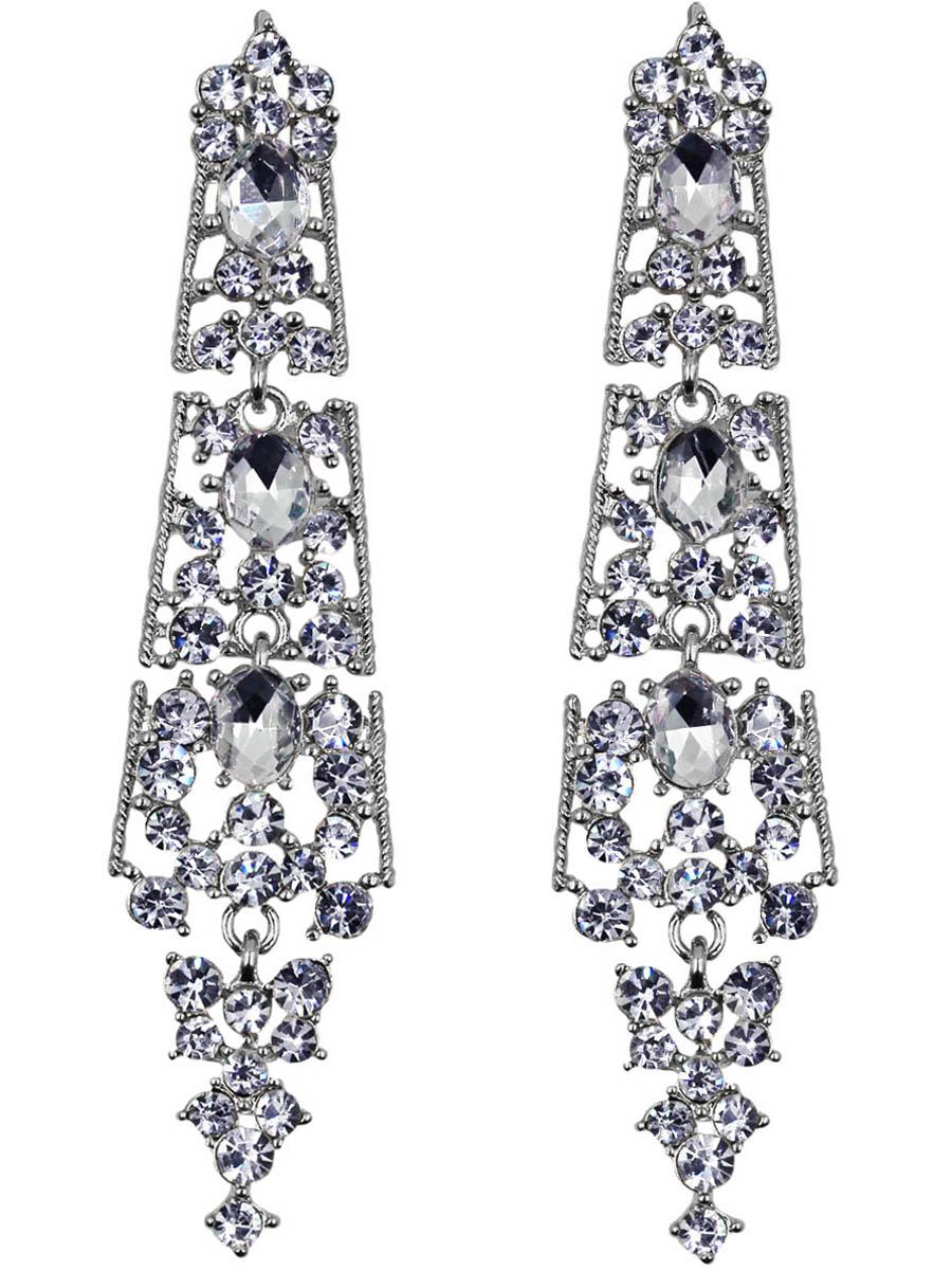 Серьги женские Taya, цвет: серебро. T-B-11150-EARR-SILVERT-B-11150-EARR-SILVERСерьги с английским замком. Длинные четырехъярусные серьги геометрической формы. Сережки сперва расширяются к низу изделия, потом гармонично сужаются Размеры: длина серьги 8,3 см, ширина 2,0 см.