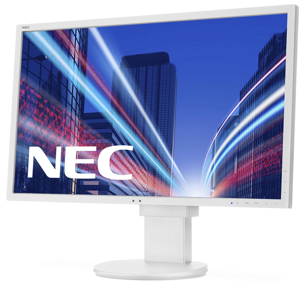 NEC EA275WMi, White монитор60003814Модель NEC EA275WMi обладает очень тонкой 27 IPS-панелью со светодиодной подсветкой и разрешением 2560 x 1440, что обеспечивает ультрасовременный и тонкий дизайн. Датчик рассеянного света и датчик присутствия являются стандартными характеристиками данной модели, кроме того, модель обладает улучшенными эргономическими характеристиками, например, механизмом регулирования высоты до 130 мм. Эргономическое исполнение данного дисплея дополняется отличным качеством изображения. Дисплей также располагает перспективными возможностями соединения с 4 коннекторами: DisplayPort, DVI-I, HDMI и выходом DisplayPort. Идеальный набор функциональных возможностей для офисной эксплуатации – встроенные динамики, гнездо для подключения наушников и USB-хаб обеспечивают отличные опции для офисной коммуникации. Датчик рассеянного света – благодаря функции автоматической яркости Auto Brightness всегда можно оптимизировать уровень яркости в зависимости от освещения и условий...