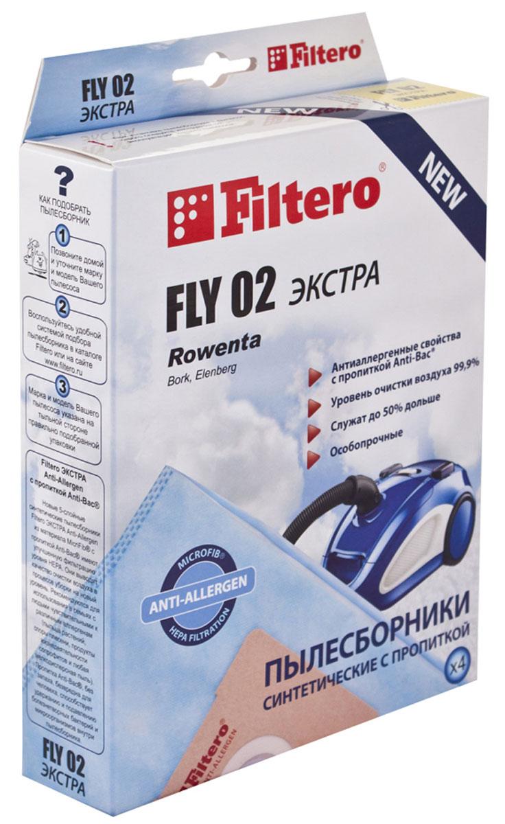 Filtero Fly 02 Экстра комплект пылесборников, 4 штFLY 02 (4) ЭКСТРАFiltero Fly 02 Экстра произведены из синтетического микроволокна MicroFib, пятислойные. Очень прочные, не боятся острых предметов и влаги, собирают больше (до 50%) пыли, чем бумажные. Обеспечивают уровень очистки воздуха НЕРА. Сохраняют мощность всасывания в течение всего периода службы пылесборника. Антибактериальная пропитка Anti-Bac защищает от аллергенов и угнетает размножение бактерий в мешке. Рекомендуются для семей с детьми, людей страдающих аллергией и заболеваниями дыхательных путей. Подходят для следующих моделей пылесосов: ALPINA SF 2202; ATLANTA ATH 3250, 3450; BIMATEK V 1001 - V 1004, V 1008, V 1009, V 1011, V 1416, V 2001, V 2115, V 2116, V 5001, V 5003, V 6314; BORK VC 1316, 1416, 1715; CAMERON CVC 1010; CLATRONIC BS 1222, 1230; ELEKTA EVC 1450, 1, 2450 Hurricane; ELENBERG VC 2010, 2015, 2020, 2022,...