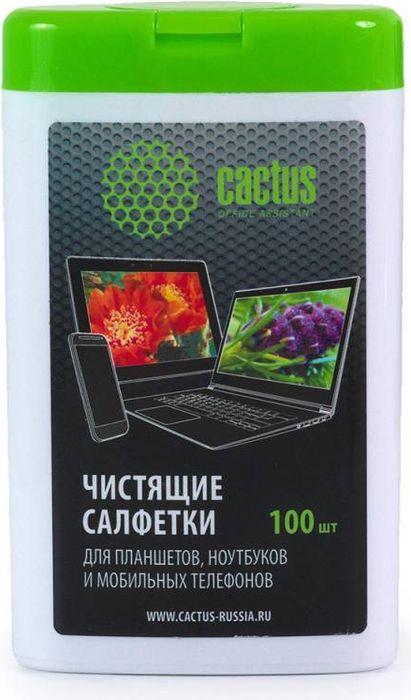 Cactus CS-T1005 салфетки для мобильных устройство, 100 шт