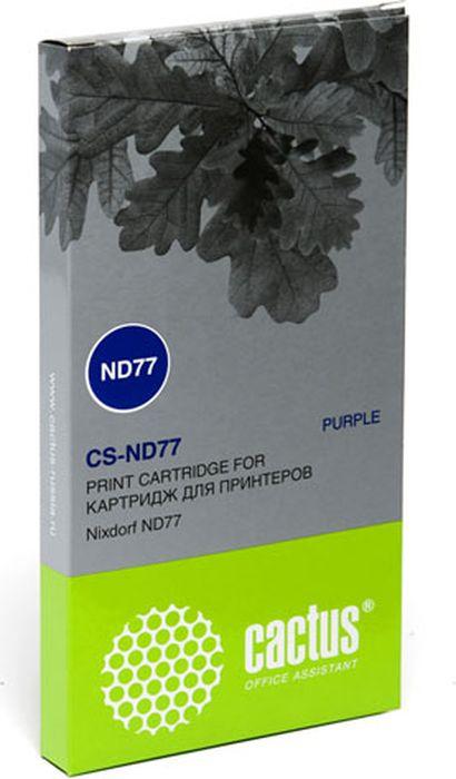 Cactus CS-ND77, Magenta картридж ленточный для Nixdorf ND77