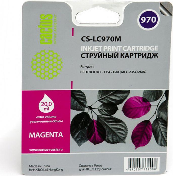 Cactus CS-LC970M, Magenta картридж струйный для Brother MFC-260c/235c/DCP-150c/135c