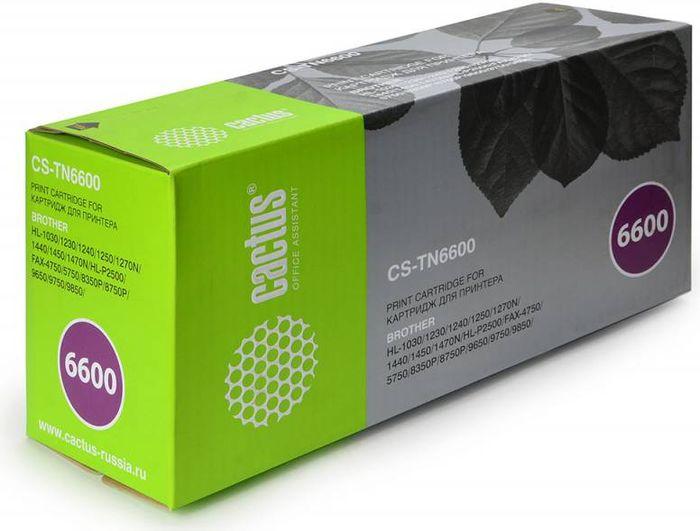 Cactus CS-TN6600, Black тонер-картридж для Brother HL-1030/1230/1240/1250/1270N/1440/1450CS-TN6600Тонер-картридж Cactus CS-TN6600 для лазерных принтеров Brother HL-1030/1230/1240/1250/1270N/1440/1450. Расходные материалы Cactus для лазерной печати максимизируют характеристики принтера. Обеспечивают повышенную чёткость чёрного текста и плавность переходов оттенков серого цвета и полутонов, позволяют отображать мельчайшие детали изображения. Гарантируют надежное качество печати.