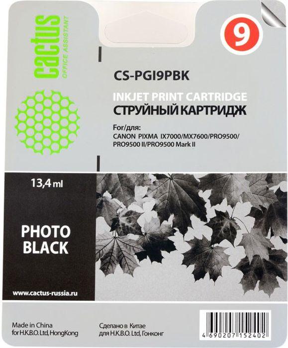 Cactus CS-PGI9PBK, Photo Black картридж струйный для Canon Pixma PRO9000 MarkII/PRO9500CS-PGI9PBKКартридж Cactus CS-PGI9PBK для струйных принтеров Canon Pixma PRO9000 MarkII/PRO9500. Расходные материалы Cactus для печати максимизируют характеристики принтера. Обеспечивают повышенную четкость изображения и плавность переходов оттенков и полутонов, позволяют отображать мельчайшие детали изображения. Обеспечивают надежное качество печати.