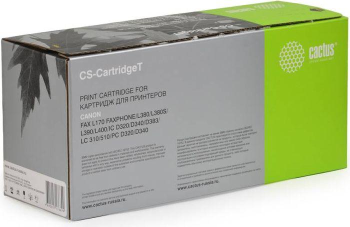 Cactus CS-CartridgeT, Black тонер-картридж для Canon L170/L380/L380S/L390/L400/IC D320/D340/D383/LC 310/510/PC D320/D340CS-CARTRIDGETТонер-картридж Cactus CS-CartridgeT для лазерных принтеров Canon L170/L380/L380S/L390/L400/IC D320/D340/D383/LC 310/510/PC D320/D340. Расходные материалы Cactus для лазерной печати максимизируют характеристики принтера. Обеспечивают повышенную чёткость чёрного текста и плавность переходов оттенков серого цвета и полутонов, позволяют отображать мельчайшие детали изображения. Гарантируют надежное качество печати.