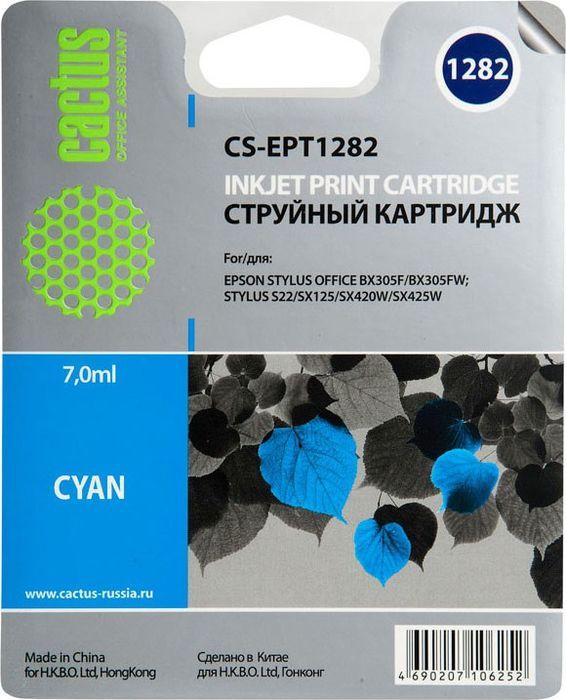 Cactus CS-EPT1282, Cyan картридж струйный для Epson Stylus S22/S125/SX420/SX425/Office BX305CS-EPT1282Картридж Cactus CS-EPT1282 для струйных принтеров Epson Stylus S22/S125/SX420/SX425/Office BX305. Расходные материалы Cactus для печати максимизируют характеристики принтера. Обеспечивают повышенную четкость изображения и плавность переходов оттенков и полутонов, позволяют отображать мельчайшие детали изображения. Обеспечивают надежное качество печати.