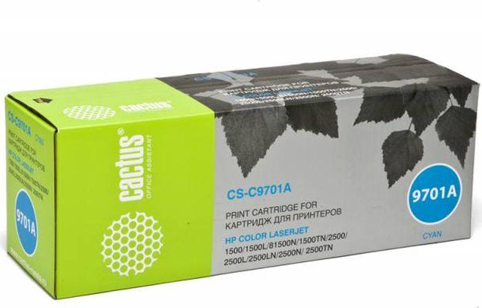 Cactus CS-C9701A, Cyan тонер-картридж для HP CLJ 2550/1500/2500CS-C9701AТонер-картридж Cactus CS-C9701A для лазерных принтеров HP CLJ 2550/1500/2500. Расходные материалы Cactus для лазерной печати максимизируют характеристики принтера. Обеспечивают повышенную чёткость чёрного текста и плавность переходов оттенков серого цвета и полутонов, позволяют отображать мельчайшие детали изображения. Гарантируют надежное качество печати.