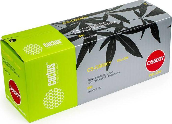 Cactus CS-O5600Y, Yellow тонер-картридж для Oki C5600/C5700CS-O5600YТонер-картридж Cactus CS-O5600Y для лазерных принтеров Oki C5600/C5700. Расходные материалы Cactus для лазерной печати максимизируют характеристики принтера. Обеспечивают повышенную чёткость чёрного текста и плавность переходов оттенков серого цвета и полутонов, позволяют отображать мельчайшие детали изображения. Гарантируют надежное качество печати.