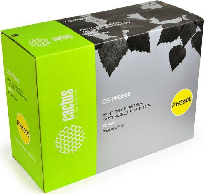 Cactus CS-PH3500 106R01149, Black тонер-картридж для Xerox Phaser 3500/3500bCS-PH3500Тонер-картридж Cactus CS-PH3500 106R01149 для лазерных принтеров Xerox Phaser 3500/3500b. Расходные материалы Cactus для лазерной печати максимизируют характеристики принтера. Обеспечивают повышенную чёткость чёрного текста и плавность переходов оттенков серого цвета и полутонов, позволяют отображать мельчайшие детали изображения. Гарантируют надежное качество печати.