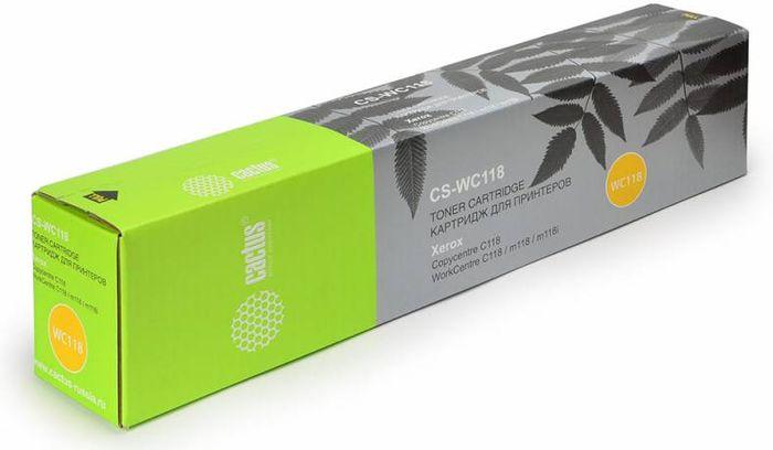 Cactus CS-WC118 006R01179, Black тонер-картридж для Xerox WorkCentre C118/M118CS-WC118Тонер-картридж Cactus CS-WC118 006R01179 для лазерных принтеров Xerox WorkCentre C118/M118. Расходные материалы Cactus для лазерной печати максимизируют характеристики принтера. Обеспечивают повышенную чёткость чёрного текста и плавность переходов оттенков серого цвета и полутонов, позволяют отображать мельчайшие детали изображения. Гарантируют надежное качество печати.