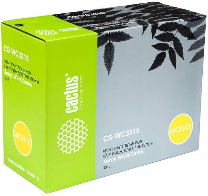 Cactus CS-WC3315 106R02308, Black тонер-картридж для Xerox WorkCentre 3315CS-WC3315Тонер-картридж Cactus CS-WC3315 106R02308 для лазерных принтеров Xerox WorkCentre 3315.Расходные материалы Cactus для лазерной печати максимизируют характеристики принтера. Обеспечивают повышенную чёткость чёрного текста и плавность переходов оттенков серого цвета и полутонов, позволяют отображать мельчайшие детали изображения. Гарантируют надежное качество печати.
