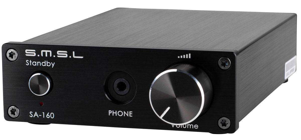 SMSL SA-160, Black усилитель6970141850076SMSL SA-160 - это цифровой мини-усилитель класса D, а также усилитель для наушников. В его конструкции используется чип TDA7498E ST Microelectronics Ltd. и только качественные аудио-компоненты.В модели используется аудиофильский операционный усилитель 5532DD. Разъем Nextronics Seiko, в который вставлен данный чип, позволяет легко произвести замену этого операционного усилителя на другой.Встроенный усилитель для наушников характеризуется очень низкими искажениями: THD + N ? 0.009%. В SMSL SA-160 также реализована функция автоматического отключения подачи сигнала на колонки при подключении наушников.Для регулировки громкости используется потенциометр японской марки ALPS. Он обладает очень качественной балансировкой каналов и долгим сроком службы.