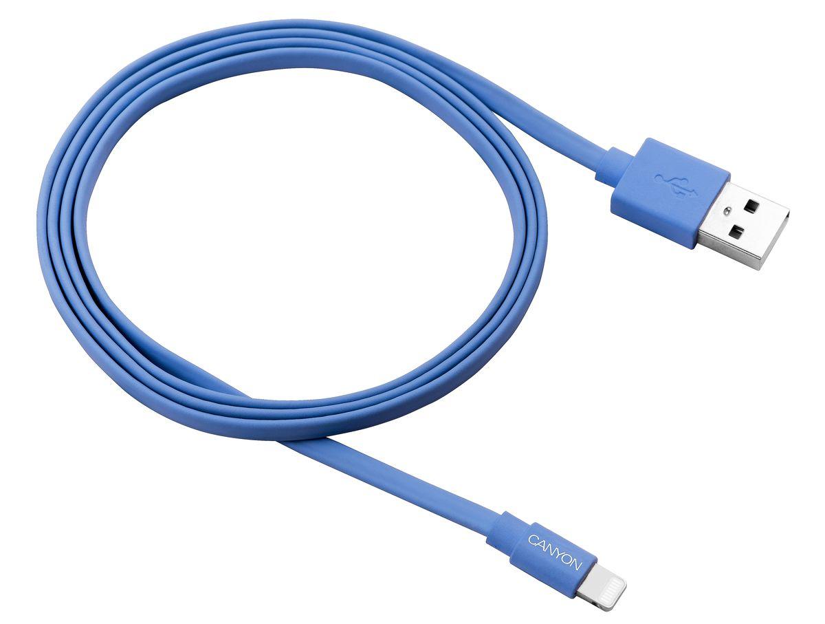 Canyon CNS-MFIC2BL, Blue кабель для iPhone/iPod/iPadCNS-MFIC2BLПлоский MFI кабель Canyon CNS-MFIC2BL, Blue в силиконовой оплётке.Этот компактный, яркий кабель - ваш идеальный спутник. Вы сможете подключить и синхронизировать любое свое iOS устройство когда угодно и где угодно - дома, на работе, или в дороге. Работает мгновенно и совершенно безопасно. Занимает минимум места как в сумке, так и на столе, а про узлы и клубки с ним можно забыть.