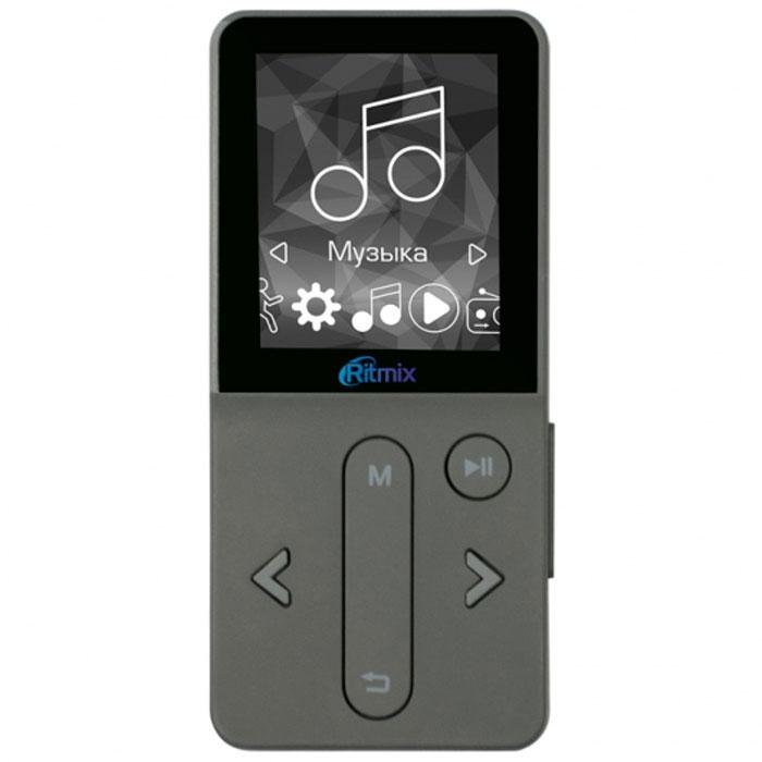 Ritmix RF-4910 4Gb, Dark Gray MP3-плеер15118374Ritmix RF-4910 – это спортивный музыкальный плеер с поддержкой мультимедиа и большим набором функций. Гаджет станет подходящим спутником для активных людей. Плеер отличается удобным управлением и понятным интерфейсом. Если вы слушаете RF-4910 на пробежке или прогулке, вам пригодится функция блокировки кнопок. Плеер можно поместить за пояс или ремень – нижняя часть устройства более узкая, чем верхняя, за счёт чего оно будет иметь дополнительное зацепление. Выберите гаджет на свой вкус. Ritmix RF-4910 представлен в трёх цветовых вариантах: тёмно-сером, золотом и розовом. Корпус плеера довольно компактный, а его максимальная толщина составляет всего 9 мм. Ritmix RF-4910 оснащён востребованными на сегодняшний день спортивными функциями - шагомером и счётчиком потраченных калорий. Теперь вы сможете не только наслаждаться любимой музыкой, но и фиксировать свои спортивные достижения! Радио: FM 87 - 108 МГц, 30 фиксированных настроек ...