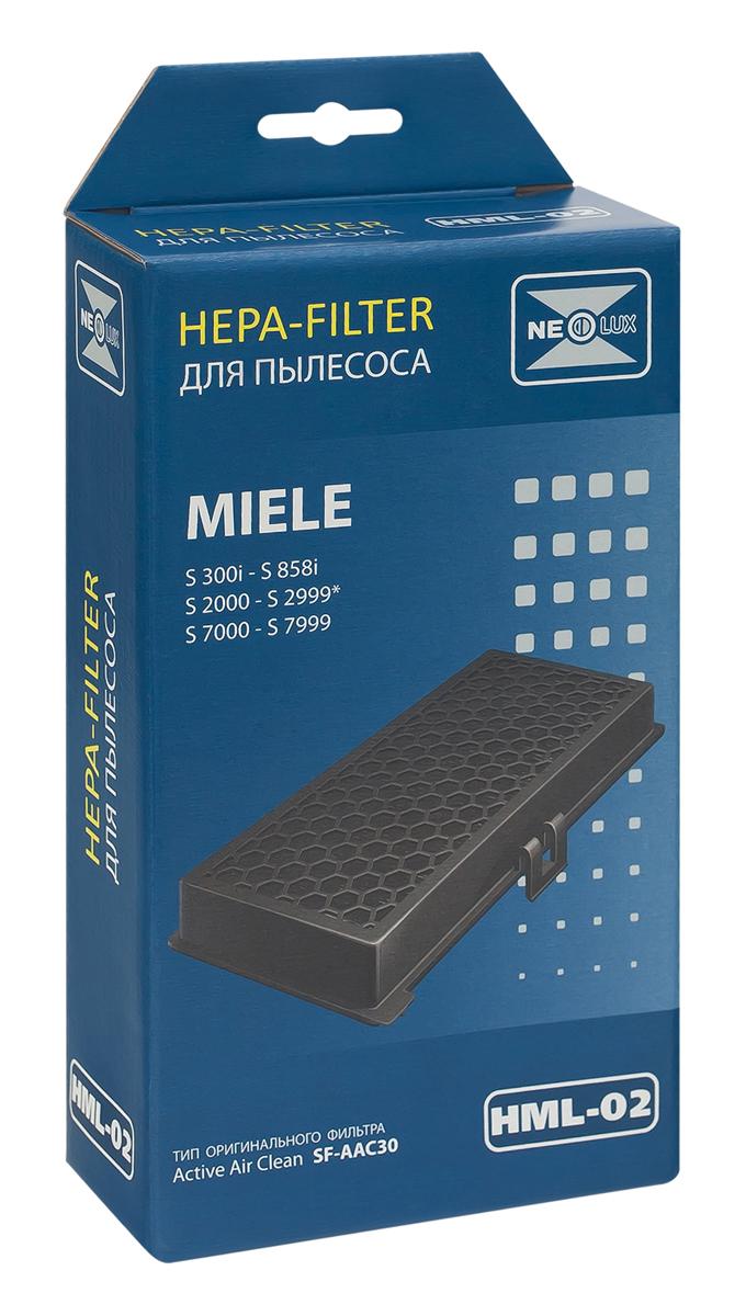 Neolux HML-02 HEPA-фильтр для пылесоса MieleHML-02HEPA фильтр Neolux HML-02 предназначен для пылесосов MIELE. Отфильтровывает неприятные запахи благодаря специальному слою активированного угля. Необходим при наличии в доме домашних животных или для курящих людей.