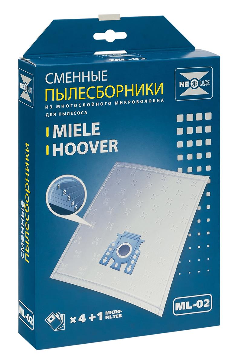 Neolux ML-02 пылесборник из пятислойного микроволокна (4 шт) + микрофильтрML-02Пылесборники Neolux ML-02 ( тип G, N) предназначены для пылесосов Miele. Изготовлены из пятислойного микроволокна и содержат 2 слоя Meltblown, которые и являются основными фильтрующими элементами. Задерживают 99,9 % пыли, идеальны для людей, страдающих аллергией. Не боятся случайного попадания влаги и острых предметов. Служат в 1,5 раза дольше бумажных пылесборников. Продлевают срок службы двигателя пылесоса. Сокращают время уборки за счет сохранения мощности двигателя пылесоса. В комплект входит универсальный фильтр защиты двигателя размером 125х195 мм.