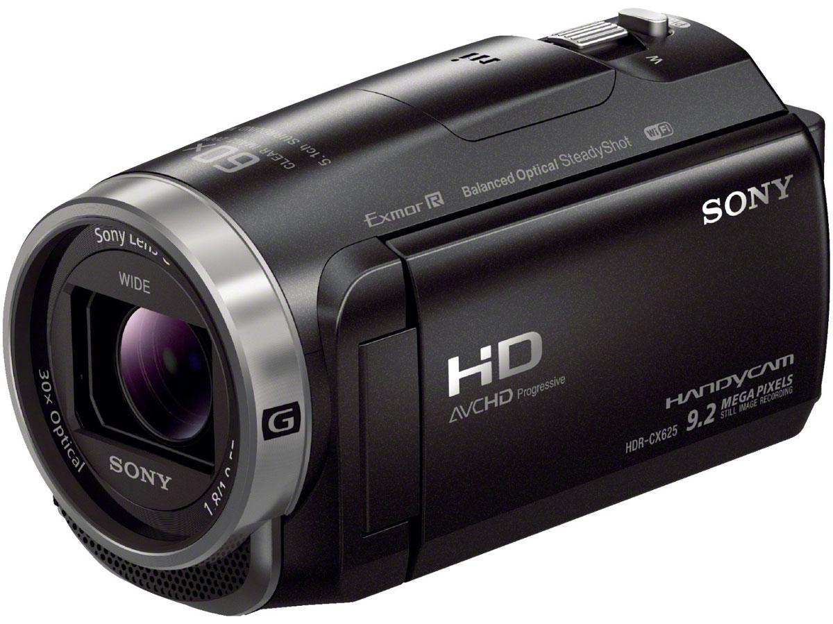 Sony HDR-CX625, Black цифровая видеокамераHDRCX625B.CELSony HDR-CX625 - видеокамера с 30-кратным оптическим зумом, возможностью записи в формате XAVC S и сбалансированным оптическим стабилизатором изображения с 5-осевой коррекцией.Дополнительная стабилизация изображения компенсирует дрожание камеры для стабилизации видео во всем диапазоне фокусных расстояний: от широкоугольной съемки до съемки с сильным приближением. Интеллектуальный автоматический 5-осевой стабилизатор изображения компенсирует вибрацию по пяти направлениям даже при видеосъемке на бегу и обеспечивает высокое качество видеосъемки.Быстрая интеллектуальная автофокусировка обеспечивает скоростной контрастный автофокус, минимизируя движения объектива, прогнозируя диапазон автофокусировки и ускоряя работу привода объектива. Это позволяет добиться высокой скорости отклика и запечатлеть самые мимолетные моменты.Если вы снимаете видео или занимаетесь фотосъемкой, лучший в своем классе широкоугольный объектив дает больше возможностей при съемке пейзажей и сцен внутри помещения, когда у вас недостаточно места, чтобы отступить назад. Даже без широкоугольной насадки на объектив некоторые видеокамеры снимают на фокусном расстоянии 26,8 мм (при соотношении сторон изображения 16:9) в режиме видео.Вы можете вести серийную съемку в течение длительного времени с заданным постоянным интервалом между кадрами, затем отредактировать всю последовательность изображений и наслаждаться воспроизведением серии фотографий в виде интервального видеоролика.Highlight Movie Maker — универсальный инструмент для редактирования видео, который предлагает ряд функций, позволяющих экономить время. Отметьте ключевые моменты во время записи, и камера автоматически синхронизирует переходы к выбранному звуковому сопровождению.Параллельная запись видео в двух форматах — в формате XAVC S или AVCHD для максимального качества и в формате MP4. Таким образом, у вас всегда будет файл небольшого размера, готовый для мгновенного обмена, и файл професс