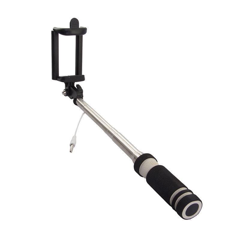 Rekam SelfiPod S-350B, Black монопод для селфи2303000350Теперь, снимая селфи, вы можете использовать все преимущества вашей камеры и создавать по-настоящему качественные автопортреты с высоким разрешением с помощью монопода Rekam SelfiPod S-350. Он будет незаменим во время прогулок и массовых мероприятий. Для управления имеется удобно расположенная кнопка на рукоятке. Подключается к смартфону через разъем 3,5 мм. В сложенном виде SelfiPod S-350 очень компактен и легко умещается в небольшой сумке и даже кармане. Ручка монопода имеет современный, эргономичный дизайн и выполнена из нескользящего материала.