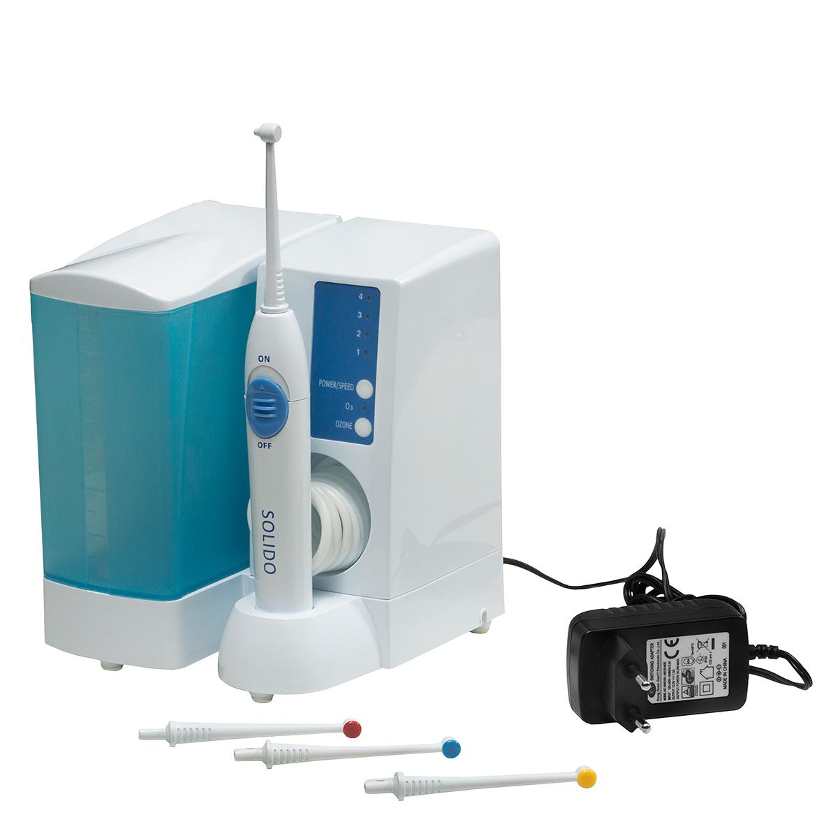 Solido Ирригатор0001521Ирригатор Solido – прибор для очистки полости рта от бактерий, разработанный итальянской компанией Bremed. Отличительной особенностью данного ирригатора от всех остальных моделей является включенная в него функция озонирования. Ирригатор полости рта Solido – аппарат, который позволяет при помощи озонированной воды более эффективно очищать межзубное пространство и зубодесневые карманы, нежели зубная нить или зубная щетка. В ирригатор заливается обычная вода или жидкость для полоскания рта, которая очищается и озонируется в аппарате. Во время использования озонированной воды Вы легко разлагаете вирусы, бактерии и микроорганизмы, очищая даже невидимые микротрещины зубов. Таким образом, вы снизите вероятность заболевания полости рта и всевозможных заболеваний зубов. Здоровье – это богатство, которое нужно сохранить. И сегодня у нас есть все для этого. Правильный уход за полостью рта позволяет создать благоприятные условия для правильной работы большинства внутренних органов, в том...