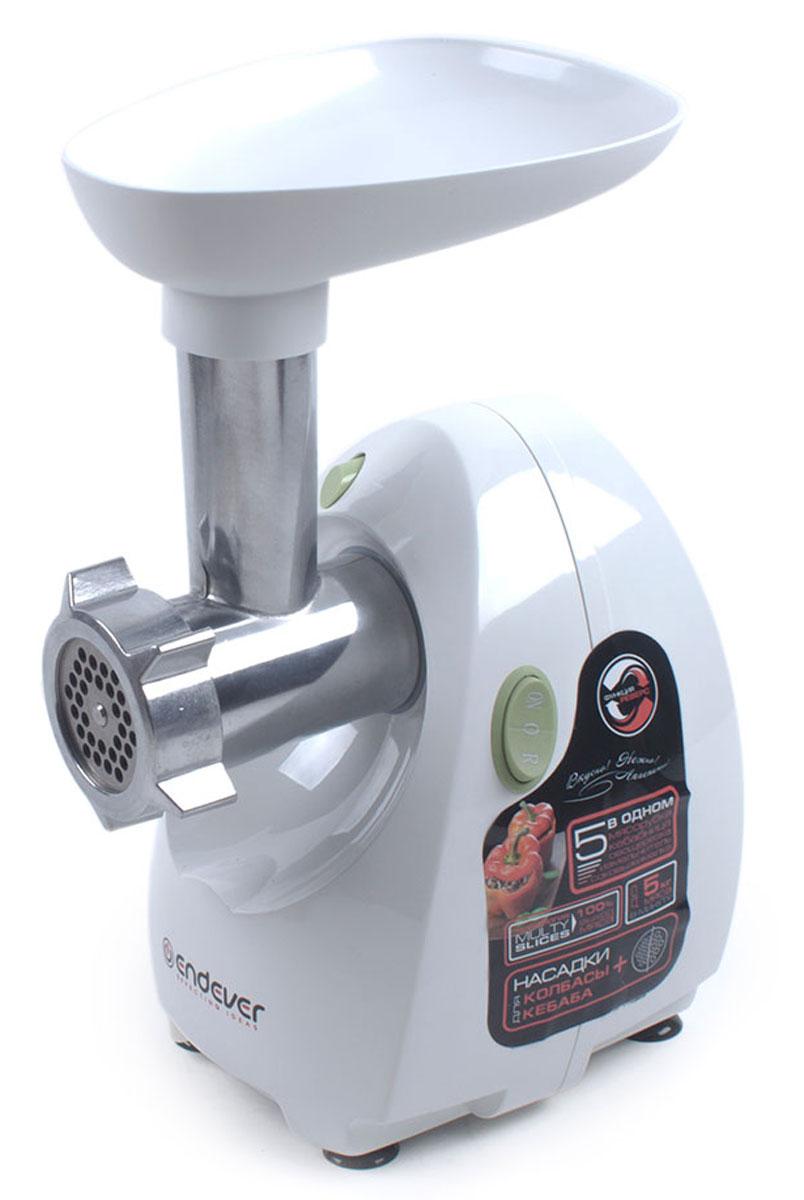 Endever Sigma 49 мясорубкаSigma 49Мясорубка Endever Sigma 49 отличающиеся высокой мощностью, большой производительностью и расширенной функциональностью. Современная мясорубка призвана максимально облегчить домашний труд и превратить процесс приготовления пищи в настоящее удовольствие. С помощью новой электрической мясорубки Endever вы сможете легко и быстро готовить вкусные и полезные домашние блюда: голубцы, котлеты, пельмени и многое другое. Мясорубка Endever Sigma 49 оснащена большим приемным раструбом. Высококачественные металлические детали не позволяют продуктам окисляться в процессе переработки, а также гарантируют надежность и долговечность устройства. Острый нож из высококачественной стали быстро и эффективно справляется практически с любым мясом и легко измельчает любые другие продукты. Мясорубка Endever Sigma 49 имеет мощный двигатель с низким уровнем шума. Функция реверса позволяет, не разбирая устройство, прокрутить шнек в обратную сторону и легко освободить его от...