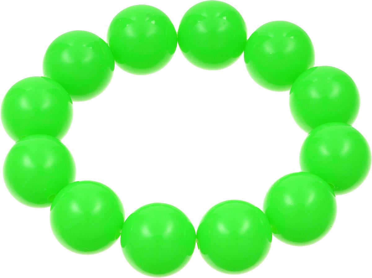 Браслет Kawaii Factory, цвет: ярко-зеленый. KW090-000163Браслет с подвескамиЯркий браслет от Kawaii Factory напомнит вам о теплых летних днях. Это универсальное украшение подойдет как к дневному повседневному наряду, так и к праздничному вечернему образу, а также станет не менее эффектным дополнением наряда в спортивном стиле. Браслет выполнен из крупных пластиковых бусин на мягкой резинке. Это симпатичное украшение с круглыми шариками похоже на яркие конфеты. Добавьте своему образу яркость и легкость, чтобы насладиться ощущением исключительности. Красивый браслет от Kawaii Factory подарит вам возможность быть особенной.