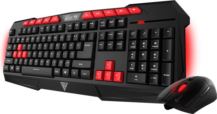 Gamdias Ares V2 Essential Combo клавиатура + мышьGKC100Gamdias Ares V2 Essential + Demeter V2 - комбо-набор, состоящий из клавиатуры с подсветкой и оптической мыши с эргономичным дизайном. Клавиатура Gamdias Ares V2 создана для победы - компактная, легкая, прочная и надежная. В конструкции клавиатуры имеются отверстия для вывода влаги из корпуса, в случае если на неё была пролита жидкость. Нескользящие резиновые ножки могут фиксироваться в нескольких положениях. Оснащена настраиваемой подсветкой в зависимости от предпочтений пользователя и освещенности помещения. 10 горячих клавиш упрощают работу с почтой, поиском, калькулятором, управлением аудио. Оптическая мышь Gamdias Demeter V2 идеальна для любого типа хвата. Имеет оптический сенсор с максимальным разрешением в 3200 dpi. В мышке установлен игровой микропроцессор. Клавиатура: Частота опроса: 1000 Гц Мышь: Количество кнопок: 6 Жизненный цикл переключателей: 3000000 Частота опроса: 125 Гц