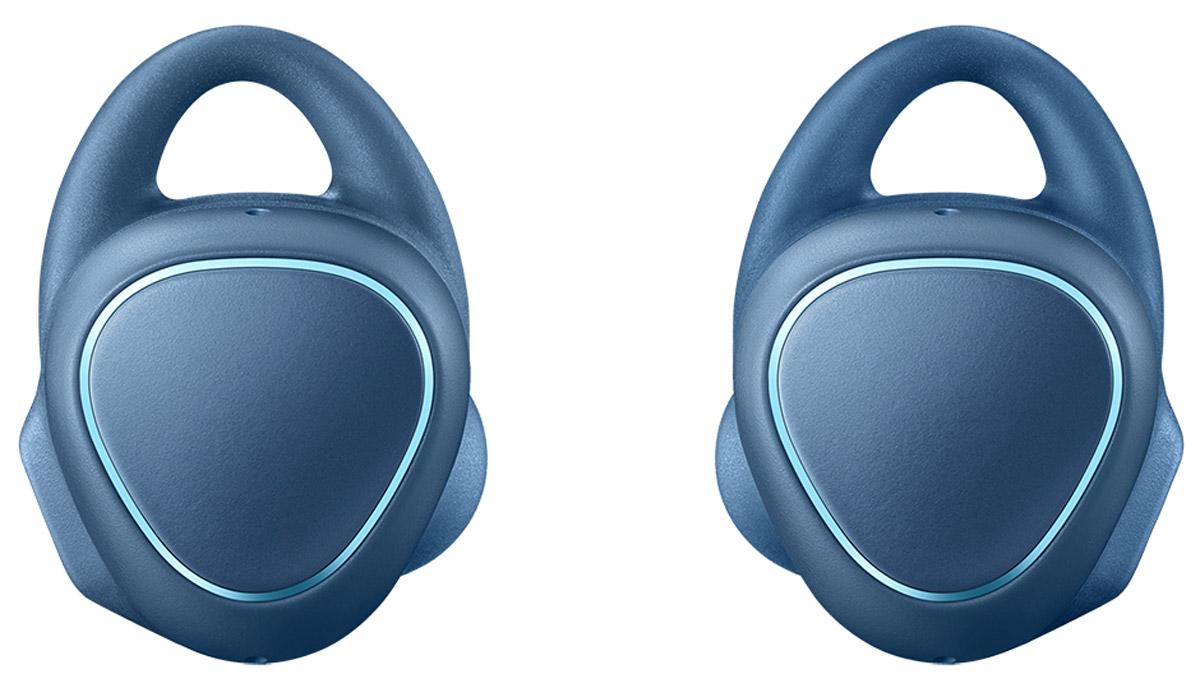 Samsung SM-R150 Gear IconX, Blue беспроводные наушникиSM-R150NZBASERЧто может быть проще! Просто вставьте наушники и вы готовы. Беспроводные фитнес-наушники Samsung Gear IconX позволят вам тренироваться с еще большим комфортом. Эргономичный и лаконичный дизайн обеспечивает комфортную и безопасную фиксацию даже во время самой активной тренировки. Samsung Gear IconX имеют нано-покрытие P2i для защиты от брызг и пота. Беспроводные Bluetooth-наушники освободят вас от забот. Они автоматически распознают начало занятий и информируют о прогрессе. Теперь не нужно брать смартфон с собой: Gear IconX способны самостоятельно отслеживать активность, измерять и сохранять данные о скорости, расстоянии, дистанции, пульсе и потраченных калориях, а также проигрывать музыку. Голосовой помощник сообщит о статусе вашей деятельности, тем самым помогая вам оставаться в оптимальной зоне для максимально эффективной тренировки. Кроме того, вы сможете получать информацию об уровне заряда аккумулятора и получать рекомендации. После...